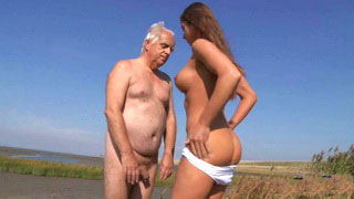 Natural Xxx18 Busty Teen Fucked By Old Dude On The Beach
